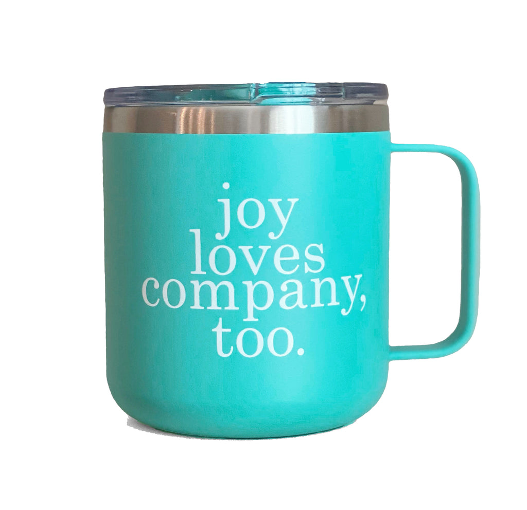 JOY LOVES COMPANY, TOO MUG