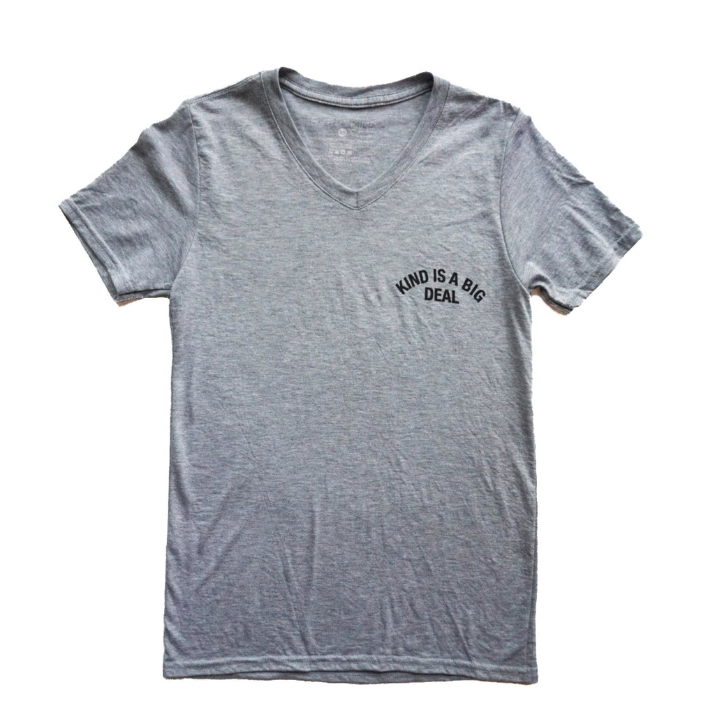Kind is a big deal adult graphic tee grey by EVERYKIND
