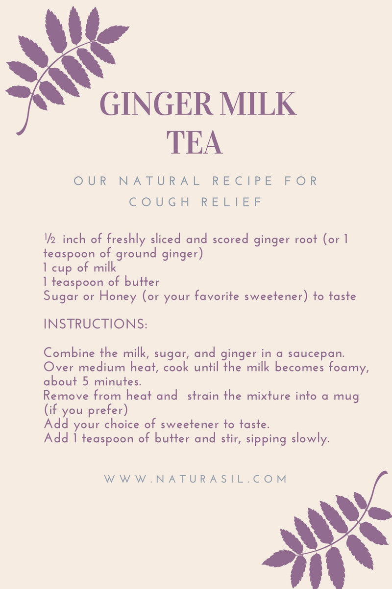 ginger milk tea recipe graphic