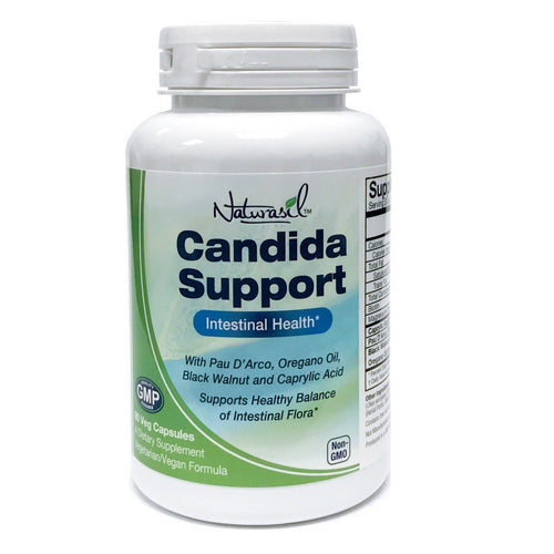 Candida Support - Yeast Balance and Intestinal Health - Vegetarian Formula - 90 Capsules - Naturasil