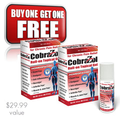 Buy One Get One CobraZol 3 oz. Roll On Pain Reliever - Clinically Proven - (2) Bottles for the price of one