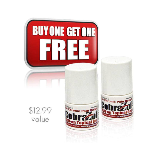 Buy One Get One CobraZol Roll On Pain Reliever - Clinically Proven - (2) Bottles for the price of one