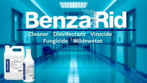 BenzaRid Professional Disinfectant 32oz | Medical Grade Sanitizer & Vircucide, Kills MRSA, H1N1, H5N1 Viruses, Norovirus, Avian Flu, Staphylococcus, No Rinse, No Wipe, EPA Registered - Natura