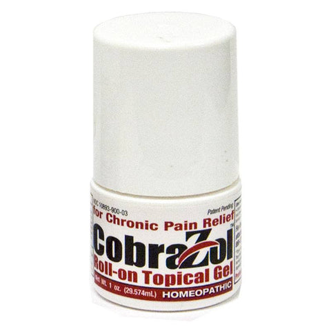 CobraZol for Chronic Pain Relief - Clinically Proven - 1 oz. Topical Roll-On Gel