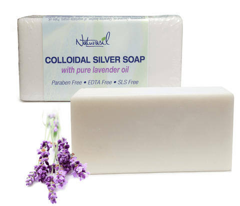 Colloidal Silver Soap with Pure Lavender Single Bar
