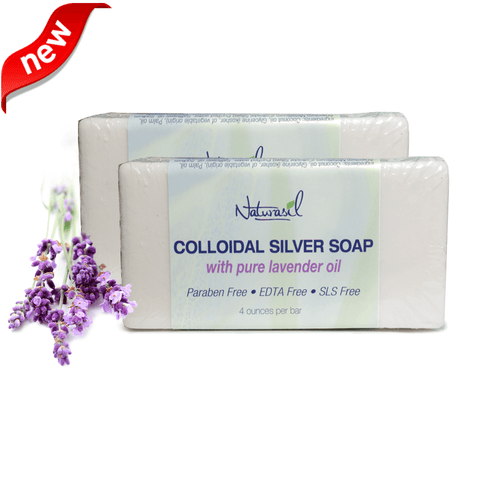 Colloidal Silver Soap with Pure Lavender 2 Pack