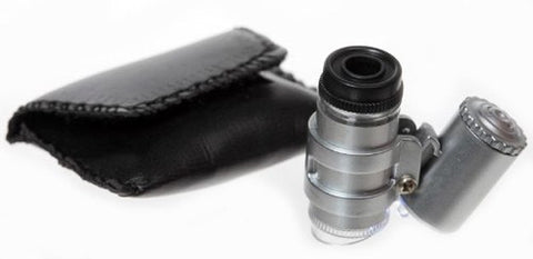 Microscope - Pocket Size, Lighted, 45x Zoom with Carrying Case