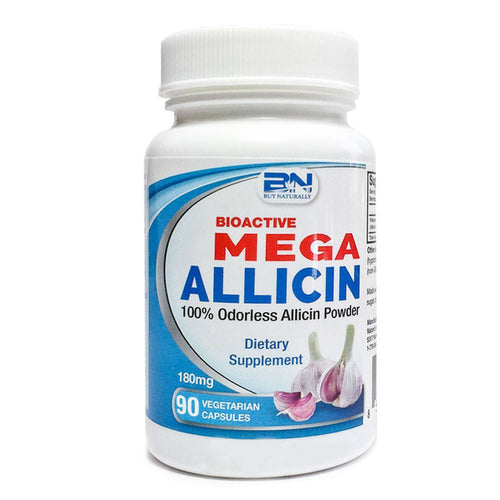 Mega Allicin 100% Allicin from Premium Garlic - 90 Count - Naturasil