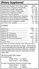 Dog Vitamins - Daily Canine Multi-Vitamin - 60 Chewable Tablets