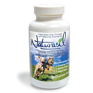 Dog Vitamins - Daily Canine Multi-Vitamin - 60 Chewable Tablets - Naturasil