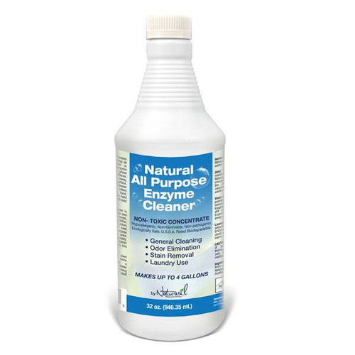 Enzyme Cleaner - Eco-Friendly, Hypoallergenic - 32 oz Concentrate - Naturasil