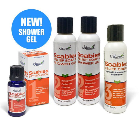 Scabies Treatment Starter Pack with Shower Gel