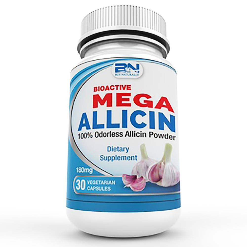 Mega Allicin 100% Allicin from Premium Garlic 30 Count - Naturasil