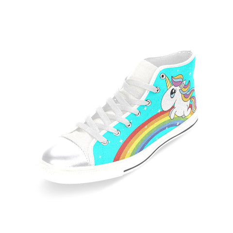31954262aeec4 Rainbows And Unicorns - Limited Edition - Women's High Top Shoes ...