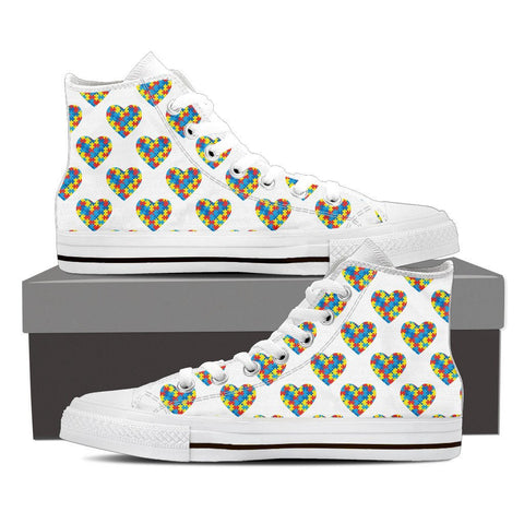 Autism Awareness Heart - High Top Ladies - Limited Edition