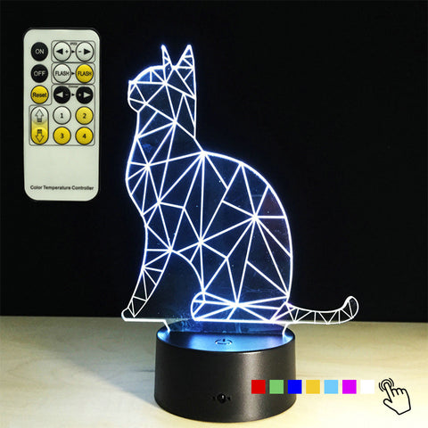 Sitting Cat 3D LED Lamp