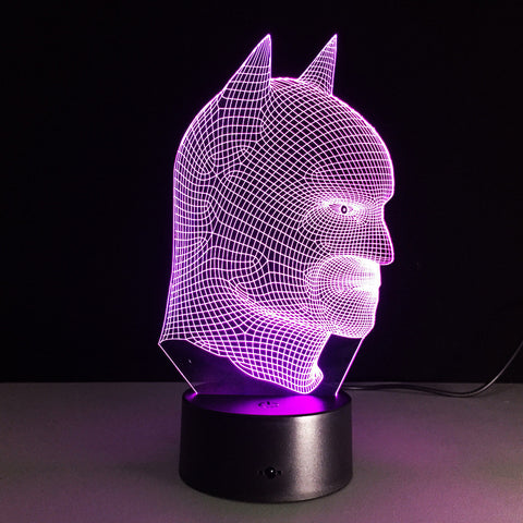 Batmask 3D Illusion LED Lamp