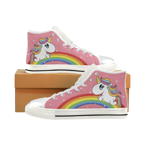 Rainbows And Unicorns - Limited Edition - Women's High Top Shoes