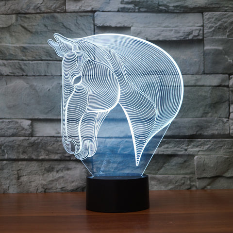 Horse Head 3D Illusion LED Lamp