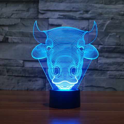 Bull 3D Illusion Led Lamp