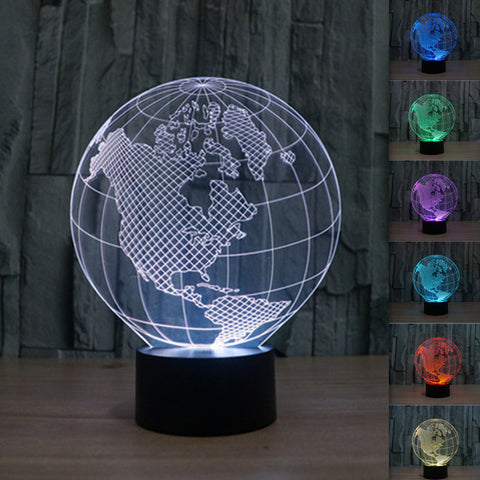 American Globe 3D Illusion LED Lamp