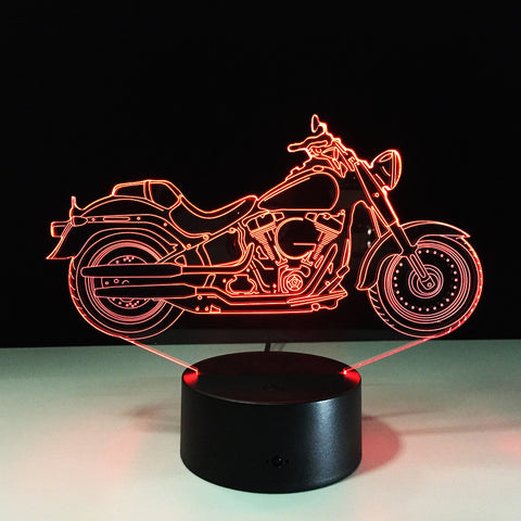 Motorcycle 3D Illusion LED Lamp