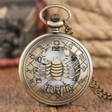 Zodiac Bronze Pocket Watch