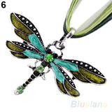 Dragonfly Necklace With Rhinestone