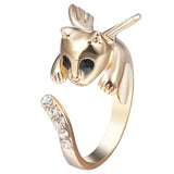 Angel Kitty Wrap Ring