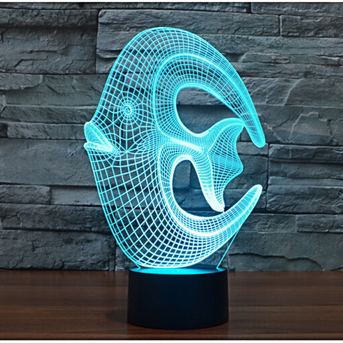 Coral Fish 3D Illusion LED Lamp