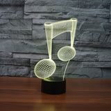 Musical Note 3D Illusion Lamp