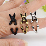 Boston Terrier Wrap Ring