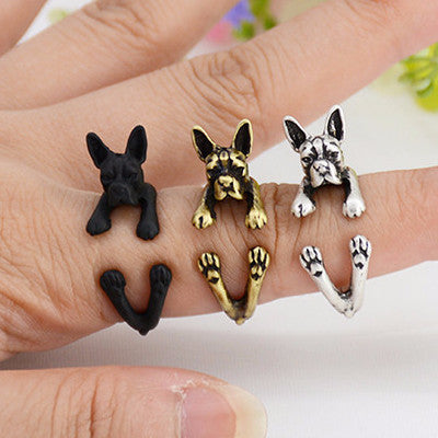 Boston Terrier Wrap Ring - Just Pay Shipping