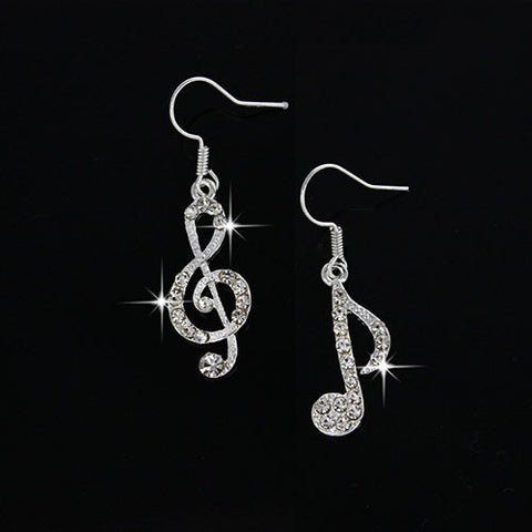 Music Drop Crystal Dangle Earrings - Just Pay Shipping!