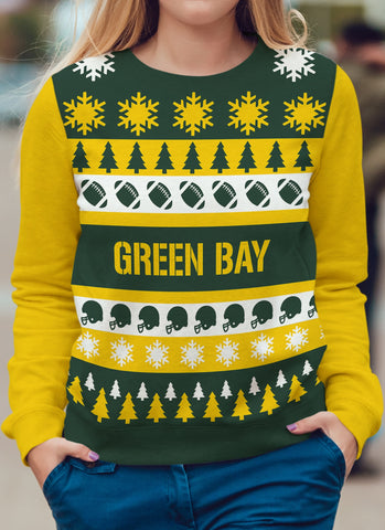 Green Bay Football Ugly Christmas Sweatshirt