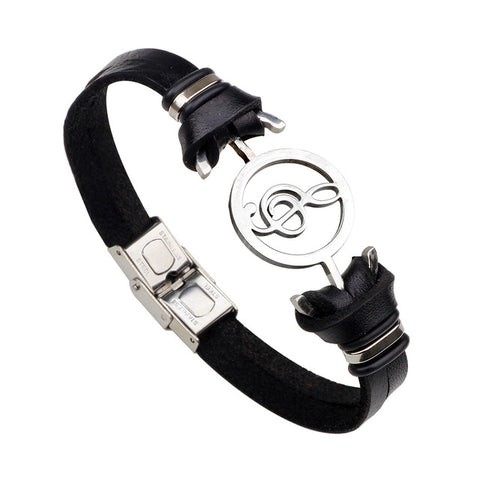 Retro Music Lover Leather Bracelets - Just Pay Shipping