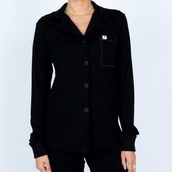 Long Sleeve Pajama Top - Midnight