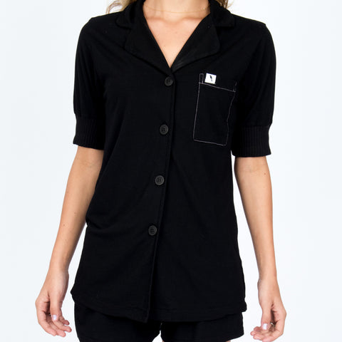 Short Sleeve Pajama Top - Midnight