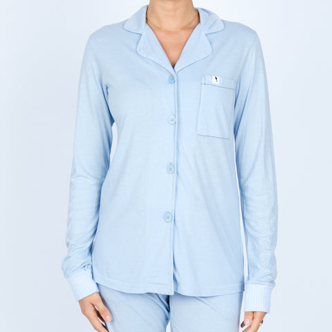 Long Sleeve Pajama Top - Sky