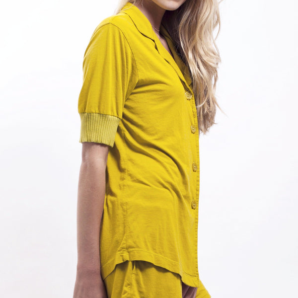 Short Sleeve Pajama Top - Citrus