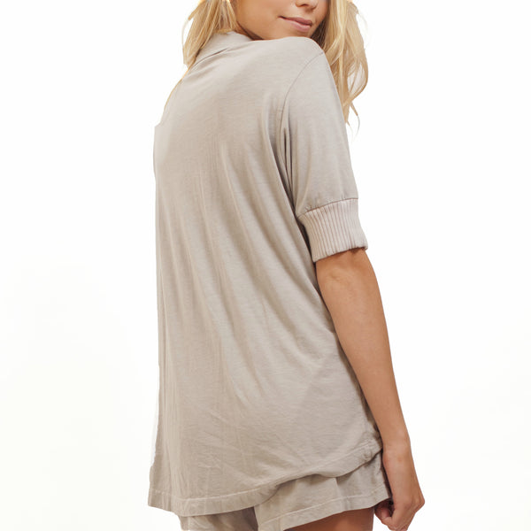 Short Sleeve Pajama Top - Dusk