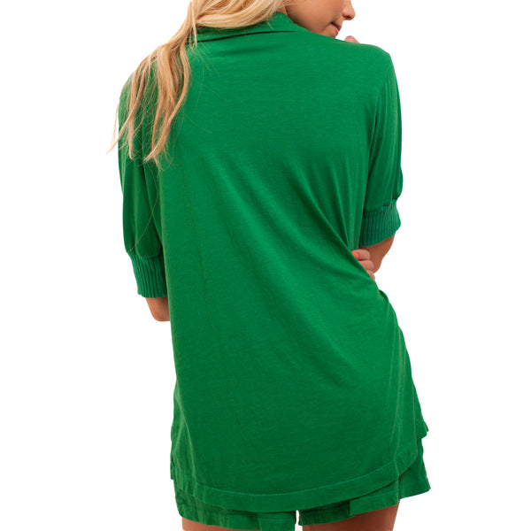 Short Sleeve Pajama Top - Evergreen