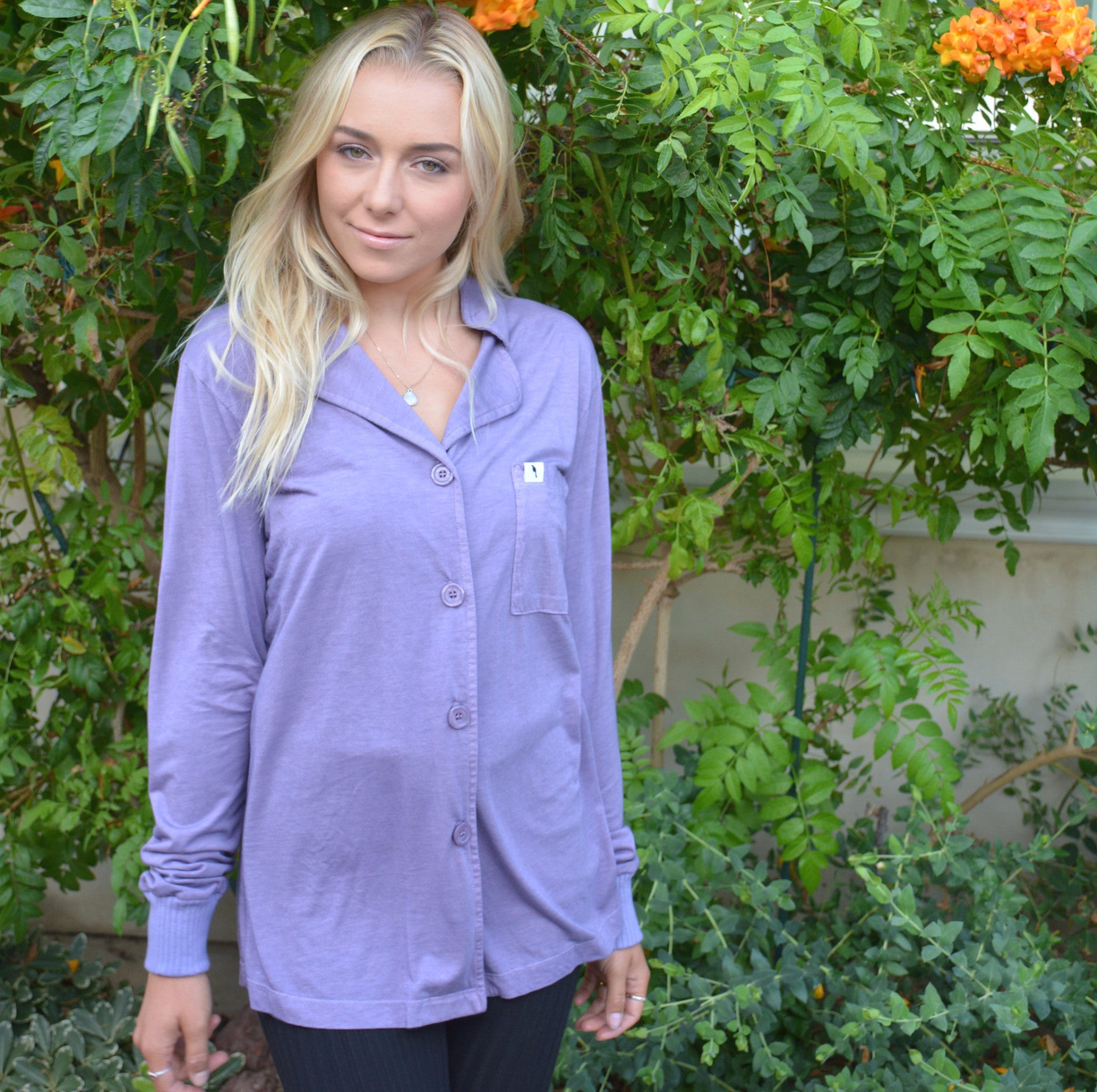 Long Sleeve Pajama Top - Lilac