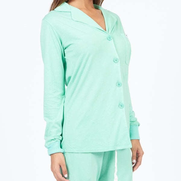Long Sleeve Pajama Top - Mint