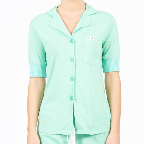 Short Sleeve Pajama Top - Mint
