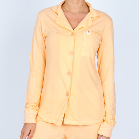 Long Sleeve Pajama Top - Sorbet