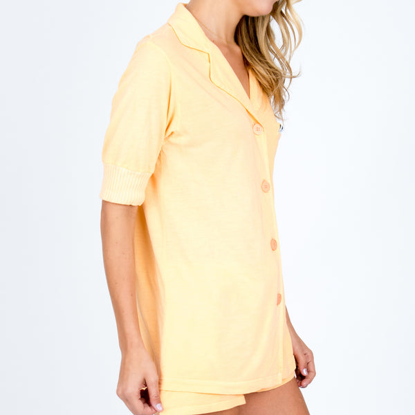 Short Sleeve Pajama Top - Sorbet
