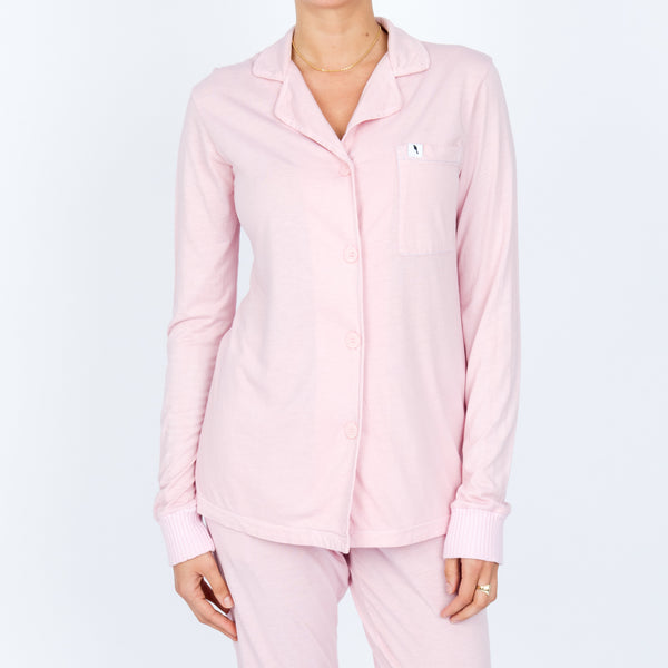 Long Sleeve Pajama Top - Rose