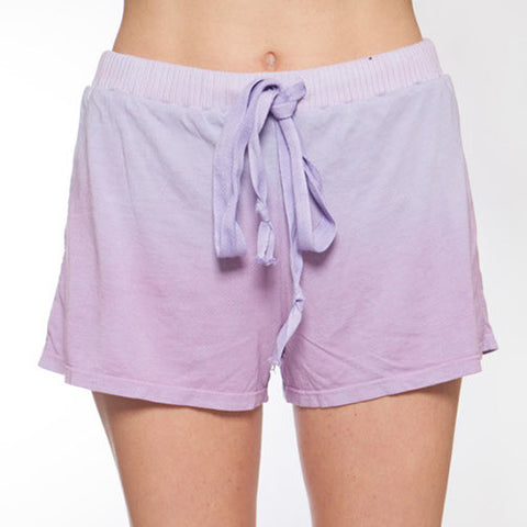 Hand Dyed Pink Ombre Pajama Shorts - M