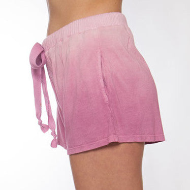 Hand Dyed Pink Ombre Pajama Short - M
